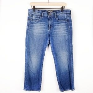 Lucky Brand Size 10 Cropped Blue Denim Jeans